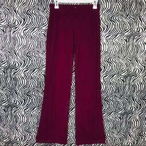 Athleta flare gusset yoga pants plum size small